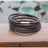 Leather Wrapped Series Bracelet - Coffee - Clarissa Maxwell