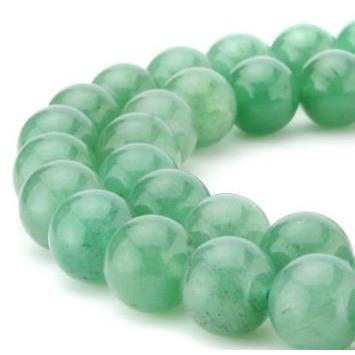 Light Green Jade Bead Custom Bracelet- 8mm - Clarissa Maxwell