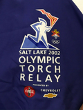2002 Salt Lake Olympic Torch Relay Pullover Track Jacket - Marker Adult Size XL - Clarissa Maxwell