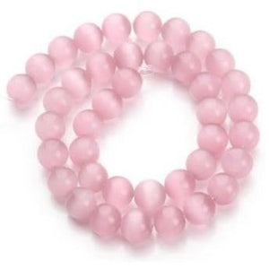Pink Cats Eye bead Custom Bracelet - 8 mm - Clarissa Maxwell