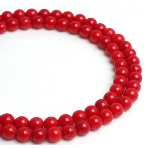 Red Coral Bead Custom Bracelet - 8 mm - Clarissa Maxwell