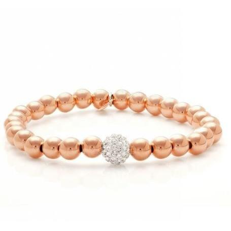 S Class beaded bracelet -Rose Gold - Clarissa Maxwell