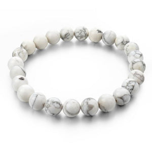 Simple Collection - White Howlite Beaded Bracelet - Clarissa Maxwell
