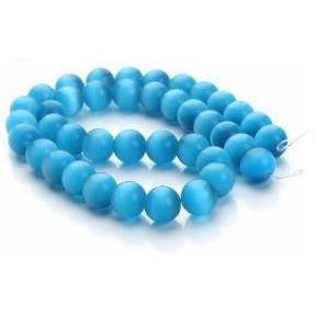 Sky Blue Cats Eye bead Custom Bracelet - 8mm - Clarissa Maxwell