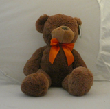 Animal Adventure Teddy Bear Tan Sweet Sprouts Orange Bow Plush Toy - Clarissa Maxwell