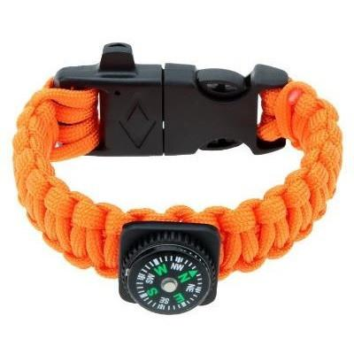 Survival Paracord Compass edition - Orange 4-in-1 - Clarissa Maxwell