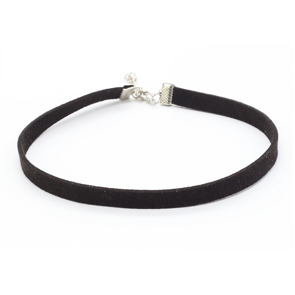 Thin Leather Choker - Black - Clarissa Maxwell