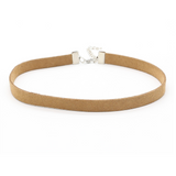 Thin Leather Choker - Brown - Clarissa Maxwell