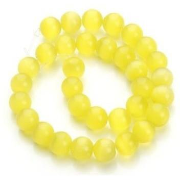 Yellow Cats Eye bead Custom Bracelet- 8mm - Clarissa Maxwell