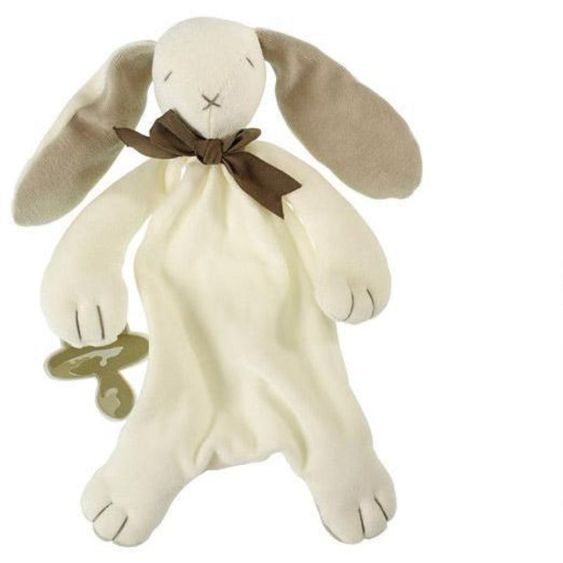 Maud n Lil - Baby Soft Toy Comforter/ Dou Dou (Organic) – Ears The Bunny - Everybody Loves Hampers - eco friendly gifts, sustainable gifts, earth friendly gifts, environmentally friendly gifts