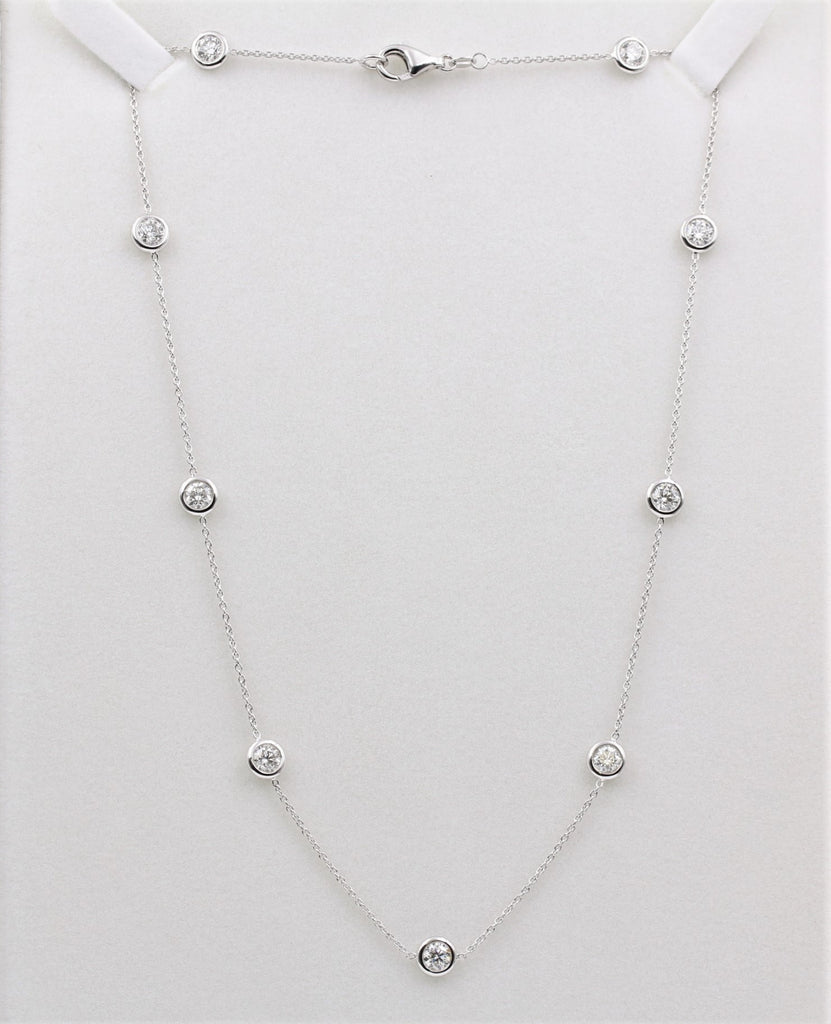 DIAMOND BY THE YARD NECKLACE 14K WHITE GOLD