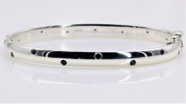 BANGLE BRACELET STERLING SILVER HAND MADE