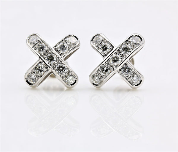 DIAMOND EARRINGS 14K WHITE GOLD