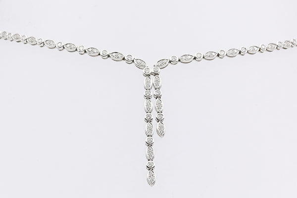 DIAMOND NECKLACE 14K WHITE GOLD