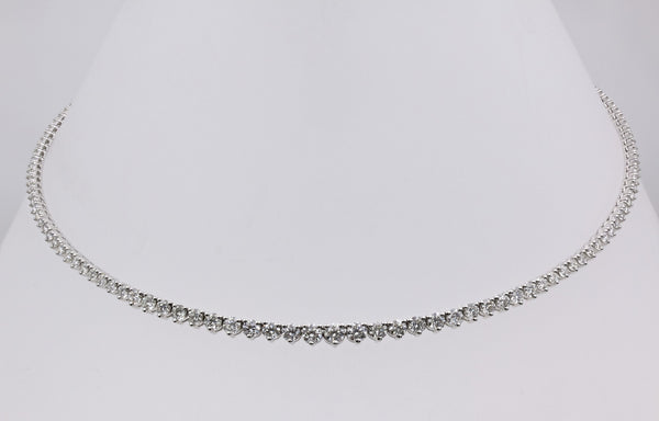 DIAMOND ETERNITY NECKLACE 14K WHITE GOLD