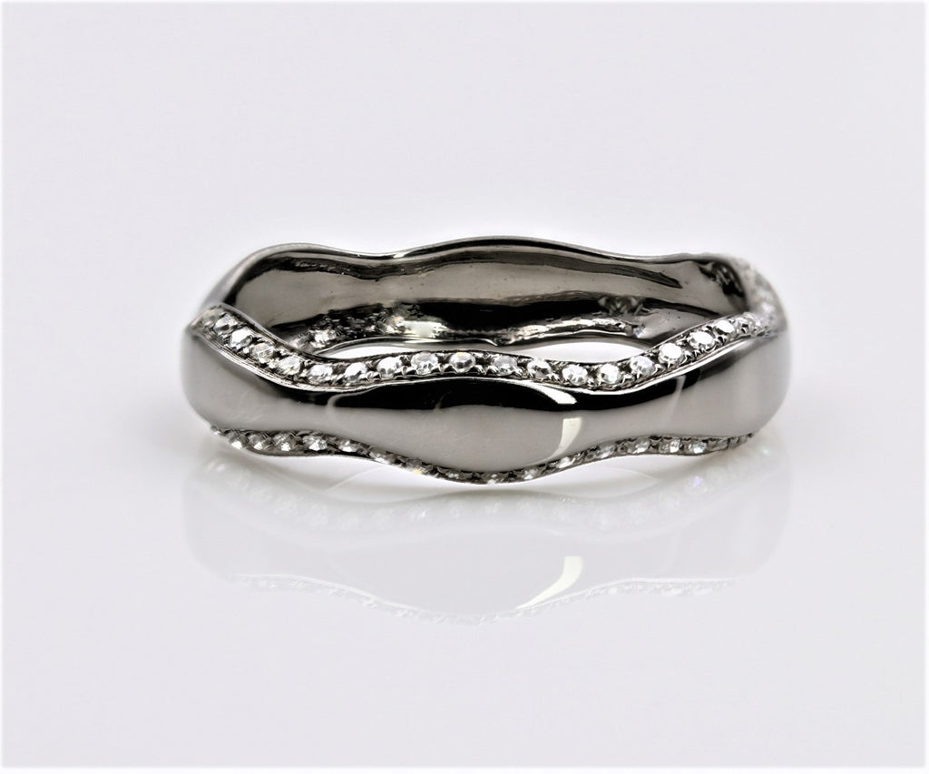 DIAMOND RING BLACK GOLD 14K