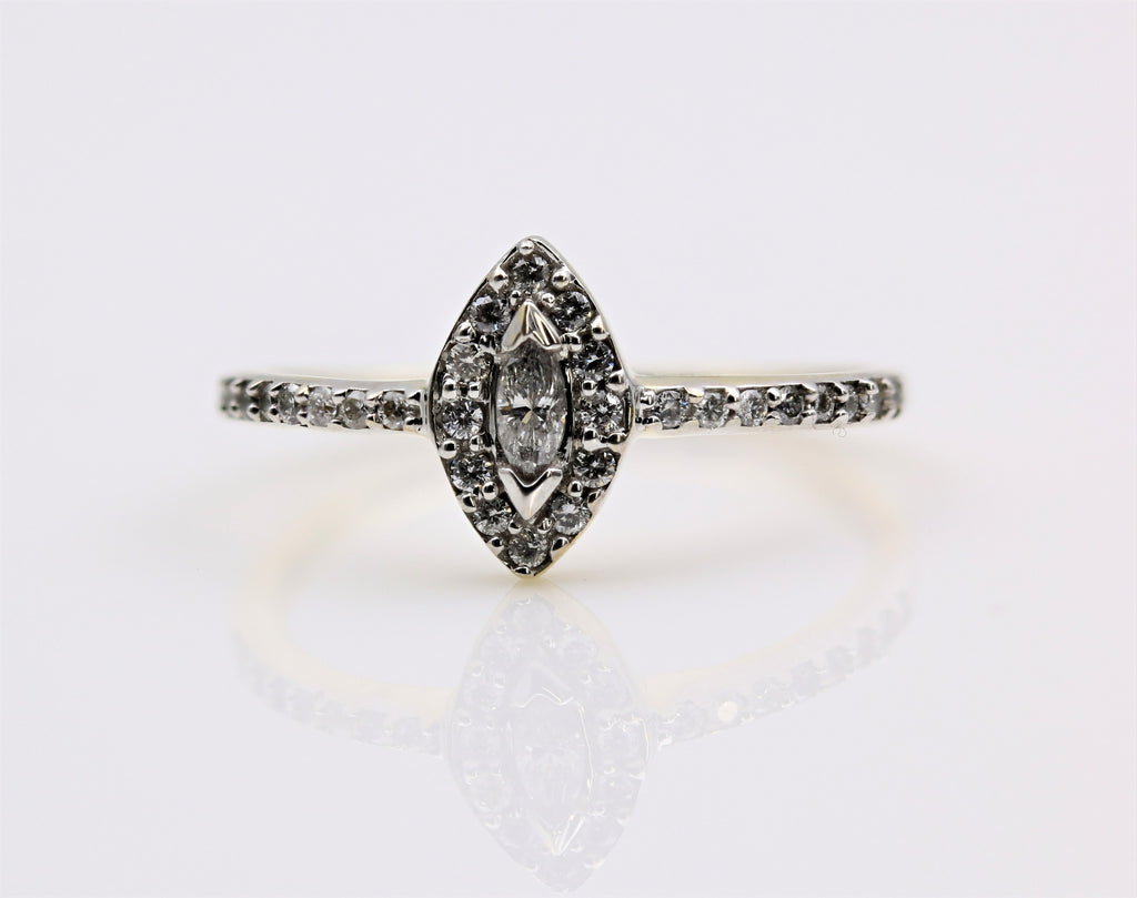 DIAMOND RING MARQUISE 14K YELLOW GOLD