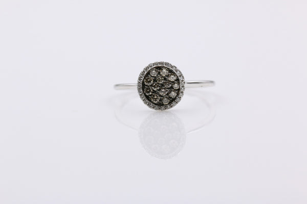 DIAMOND RING PAVE SET IN 14K WHITE GOLD