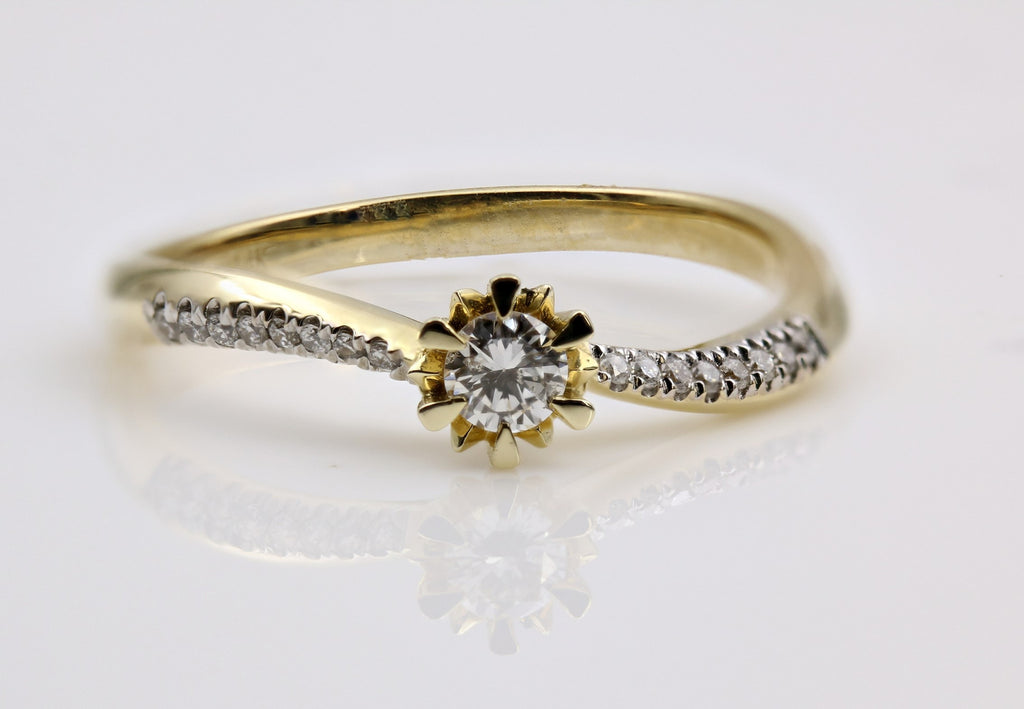 DIAMOND RING 14K YELLOW GOLD