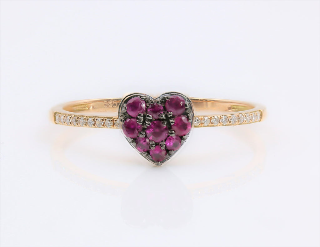 RUBY AND DIAMOND RING 14K YELLOW GOLD