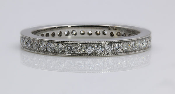 DIAMOND ETERNITY RING 14K WHITE GOLD