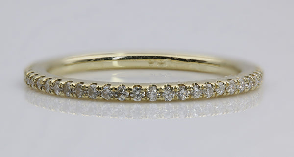 DIAMOND ETERNITY RING 14K YELLOW GOLD