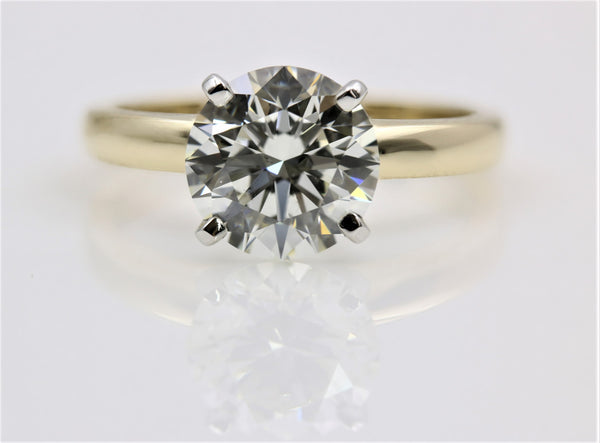 DIAMOND RING 4 PRONG 14KYG/PLATINUM