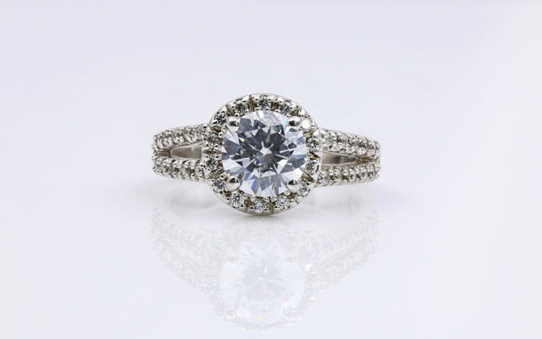 DIAMOND ENGAGEMENT RING 14K WHITE GOLD