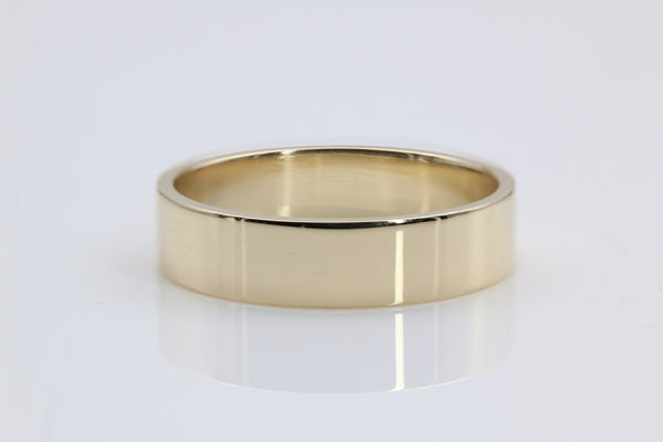 WEDDING RING PIPE CUT 14K YELLOW GOLD