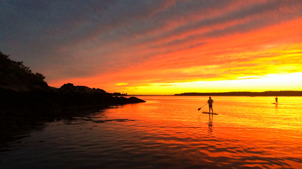 Full Moon Stand Up Paddle Sand Dollar Cove Cape Ann