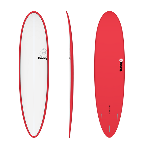 "7'6"" Torq Mod Fun Pinline Red White Deck"