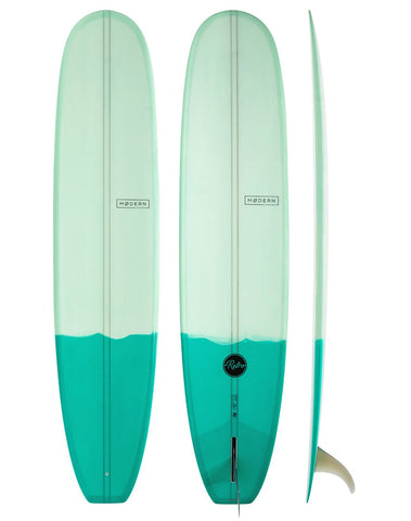 "9'6"" Modern Retro Longboard Two Tone Green"
