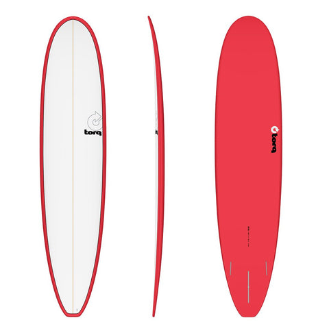 "9'6"" Torq Longboard Pinline Red White Deck"