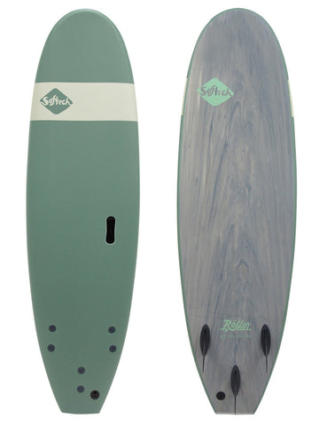 "7'6"" Softech Roller Funboard Smoke Green"