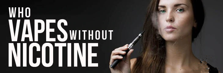 Vaping Without Nicotine