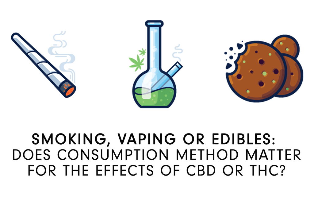 SMOKING, VAPING OR EDIBLES: DOES CONSUMPTION METHOD MATTER FOR THE EFFECTS OF CBD OR THC?