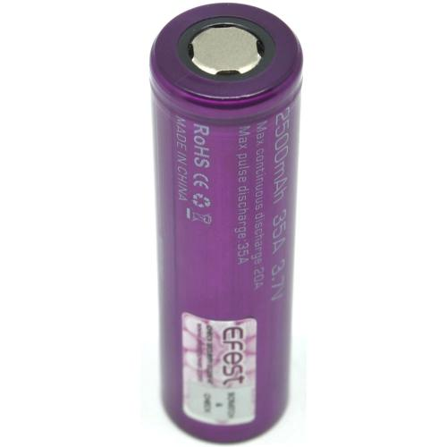 Efest 2500mAh 3.7 IMR 18650 35A BATTERY for High Drain E-cigarette Mod - cometovape