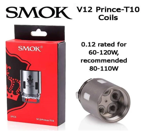 SMOK TFV12 P-Tank T10 Red Light - cometovape
