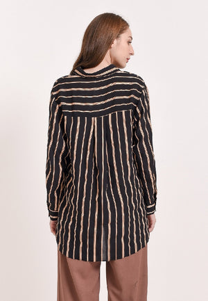 Bridella Tops Print Black