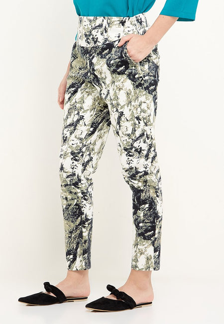 Azka Pants Print Black