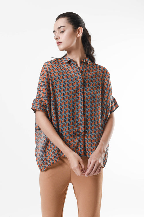 Aileen Loose Shirt Orange