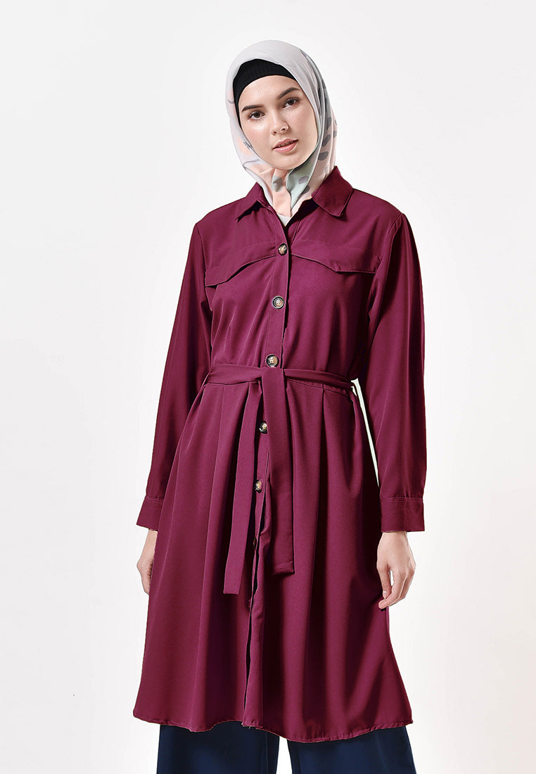 Sava Dress Maroon