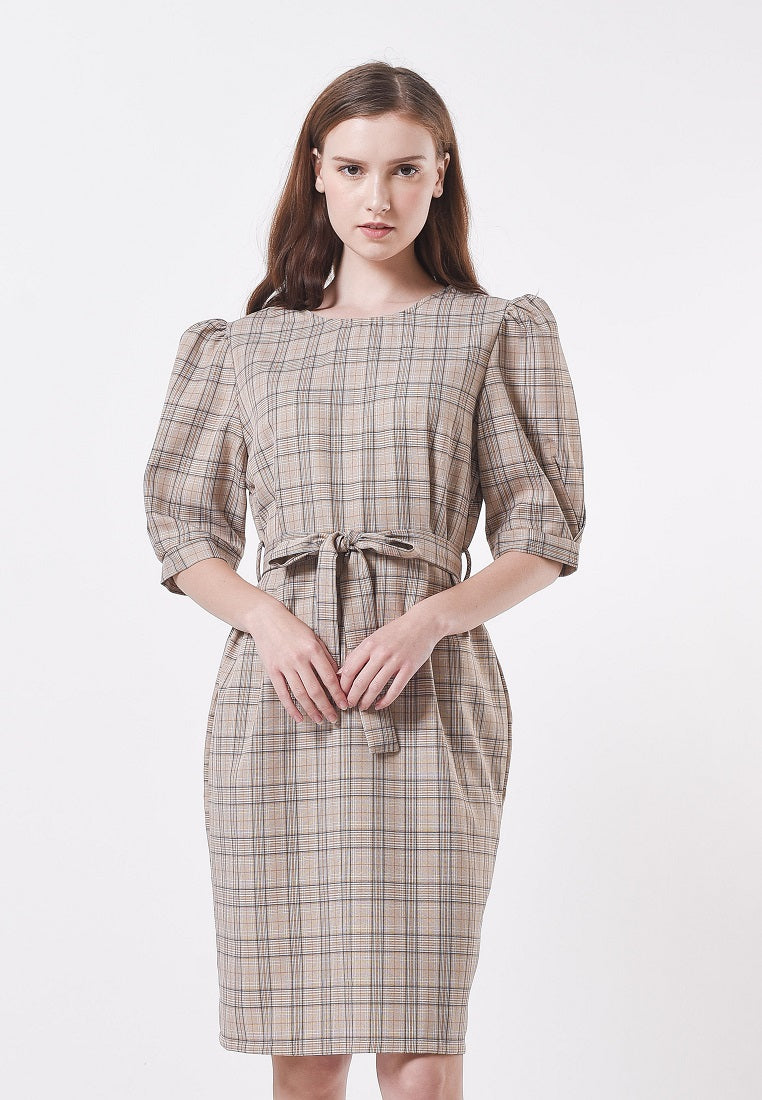 Alessandra Dress Brown