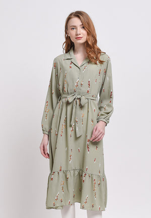 Fahrani Dress Print Green