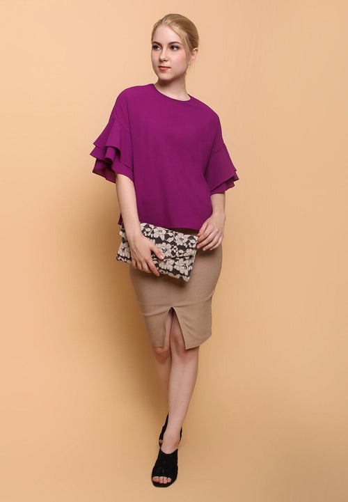 86260-abila-Blouse-purple _ 66207-indira-Skirt-cream