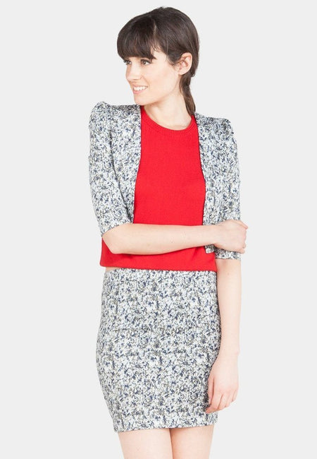 Leah Open End Printed Blazer