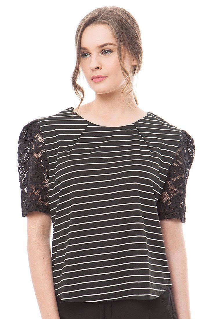 85959-Sheila-Stripped-Blouse-F-Black
