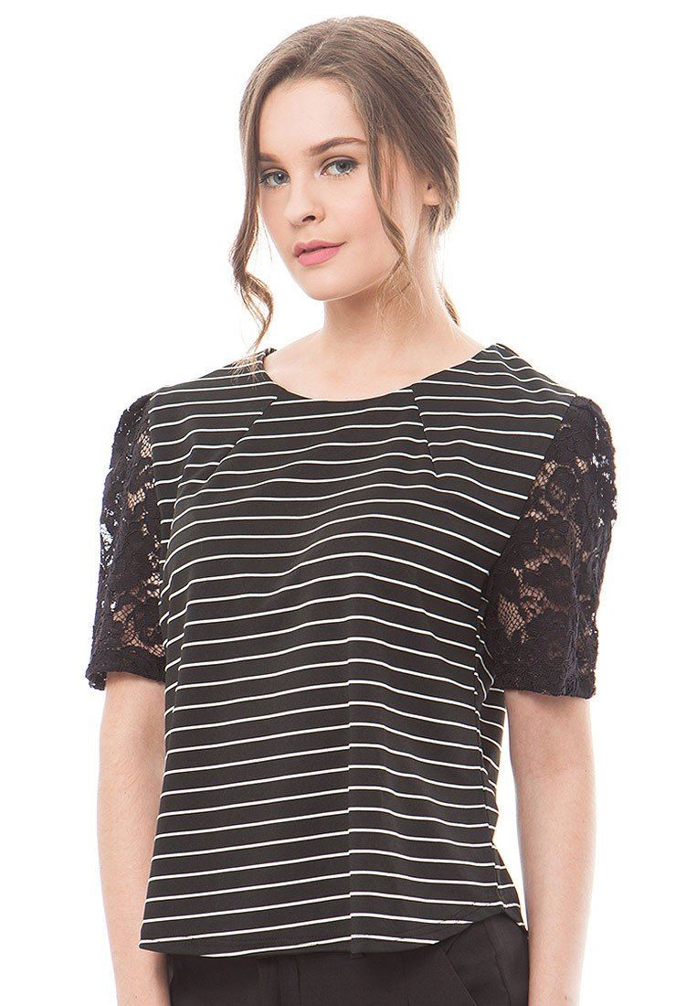 85959-Sheila-Stripped-Blouse-S-Black