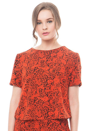 86092-Marselin-Jacquard-Blouse-F-Orange