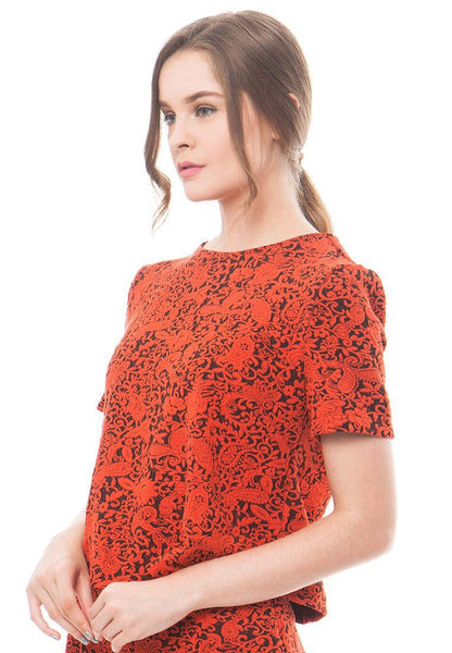 86092-Marselin-Jacquard-Blouse-S-Orange